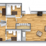 floor plan two bedroom apartment with balcony halcyon retreat golf spa resort min.png