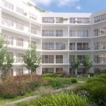 interior garden of this newly built residence great benefit oasis of greenery and tranquillity in the heart of brussels