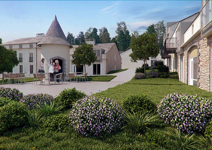 invest in property with little money in le village halcyon retreat spa and golf resort from 41000 euros own funds in combination with loan