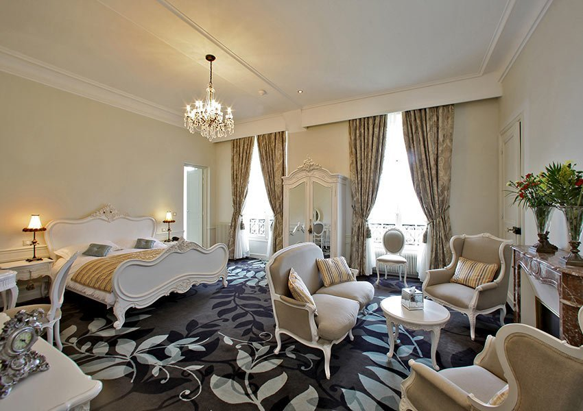 luxury suite at chateau de la cazine luxury boutique hotel part of halcyon retreat spa and golf resort vacation resort near limoges france