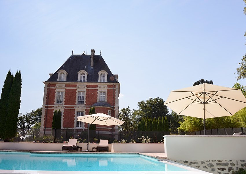 magnificent outdoor swimming pool at luxury hotel part of house for sale in holiday park limousin france