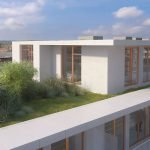 newly built penthouse for sale in brussels on roof with private garden and terrace with sun loungers luxury real estate
