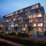 residence with newly built apartments for sale unique investment opportunity in brussels real estate impression at dusk street side