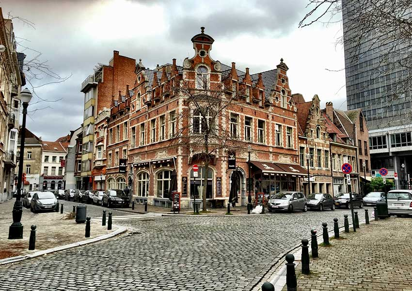 Authentic Stylish Buildings In Brussels The Capital Of Belgium