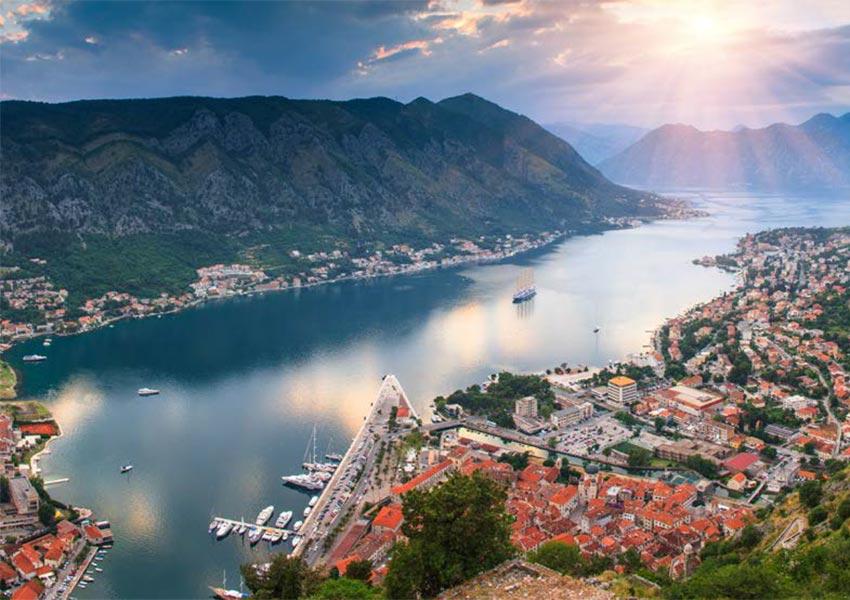 Boka Bay Divided Into Four Smaller Bays Herceg Novi Risan Kotor Tivat Sightseeing Montenegro