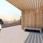communal terrace courtyard studios for sale immersed in hillside