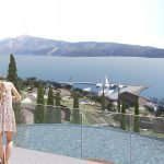 couple overlooking spa overflow pool holiday apartments private marina and hera bay samos