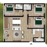 Floor Plan 3 Bedroom Apartment With Garden For Sale Montenegro Luxury New Build Residence Tivat