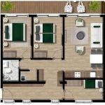 Floor Plan 3 Bedroom Apartment With Terrace For Sale Royal Blue Residence Montenegro