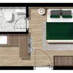 Floor Plan Standard Studio For Sale Royal Blue Montenegro