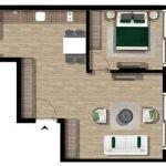 Ground floor plan Deluxe 1 Bedroom Apartment For Sale Tivat Montenegro Also For Rent