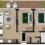Ground Plan 2 Bedroom Apartment For Sale With Terrace Tivat Montenegro For Mixed Use Private And Rent