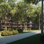 Many Nature Trees And Plants Around Residence With Luxury Apartments For Sale Brussels Watermael Woodfort