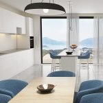 Modern Interior In Kitchen With Magnificent View Of Mountains And Adriatic Sea
