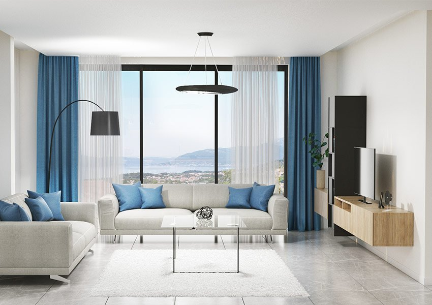 Modern Interior of Living Space Apartment For Sale In Residence Tivat Montenegro