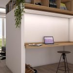 Multifunctional Furniture Which Serves As A Modern Sleek Desk During The Day Optimal Use Of Space In Studios