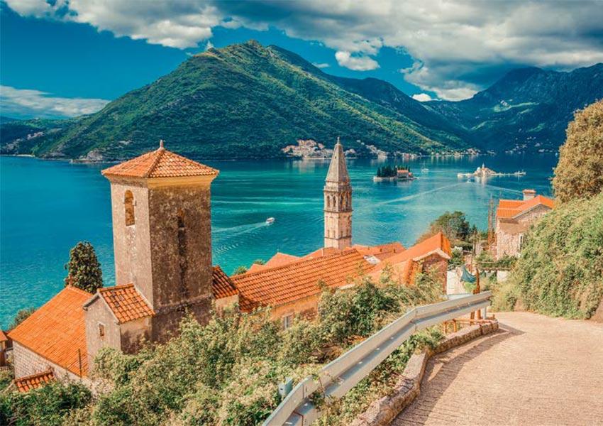 Perast Beautiful Stone Town Landmark In Bay Of Kotor Montenegro Unesco World Heritage