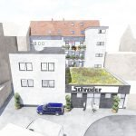 Rear of German Apartment Building As Investment For Sale Including Commercial Space Rental Guarantee