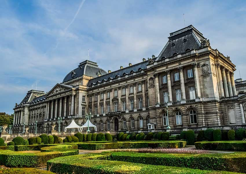 Royal Palace In Brussels Belgium Eye-catcher Of The Monarchy