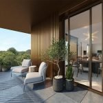 Spacious Magnificent Terrace With Lounge Seats Of Penthouse For Sale With View Over Sonian Forest Green Lung Of Brussels