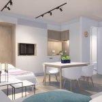 Studio convertible fonctionnel avec un lit double dans le quartier européen de Bruxelles Logement approprié pour les expatriés