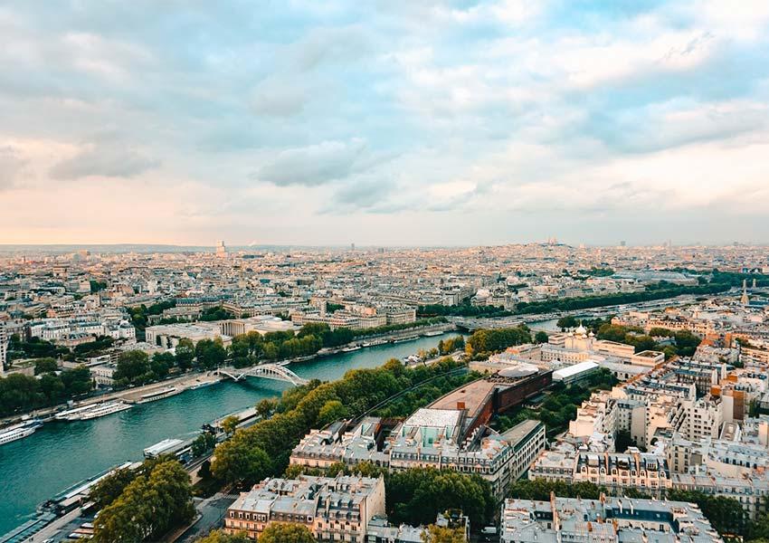 Stunning Panoramic Photo Of Paris River Seine Capital France