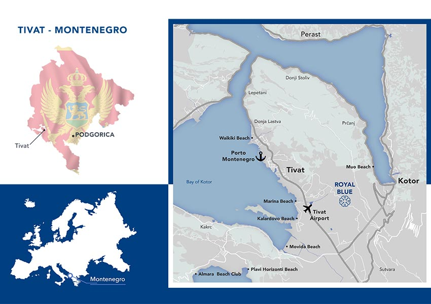 Where is Montenegro And Tivat Map And Location